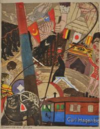 恩地孝四郎《サーカス(ハーゲンベック・サーカスの印象)》 (京都国立近代美術館)